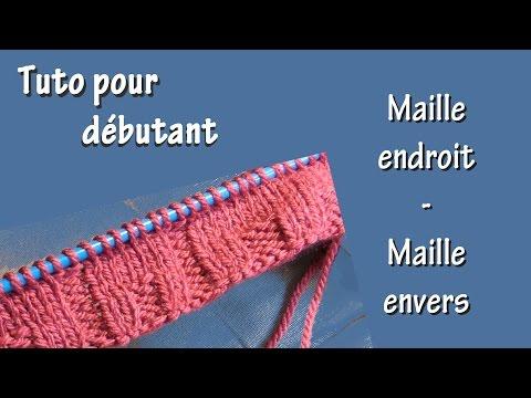 Tuto tricot pour d butant total premi re charpe par - Maille endroit maille envers ...