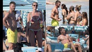 Michael Carrick enjoys off  break with wife Lisa Roughead in Greece