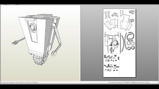 borderlands Claptrap blender papercraft timelaps