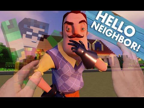 Minecraft Realistic: Hello Neighbor - Turning INVISIBLE