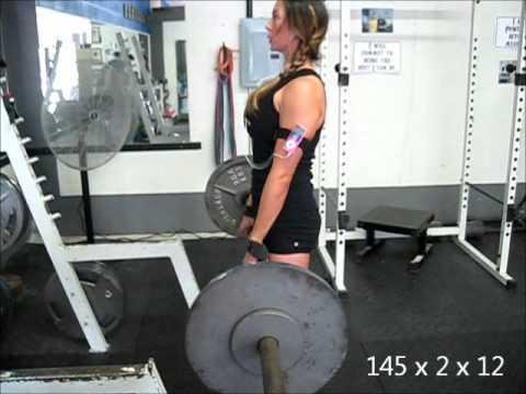 Jen Comas Keck SSB Squats And Sled Pushes