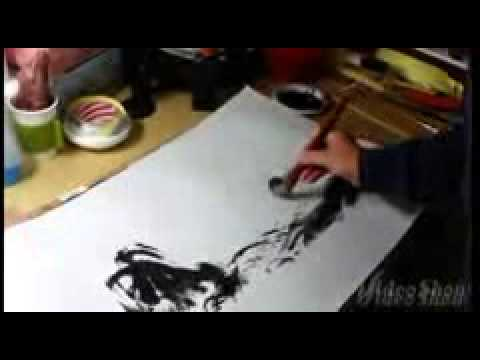 New Year Greeting with Korean painting Work