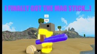 Roblox Booga Booga: I GOT THE MAGNETITE STICK!!