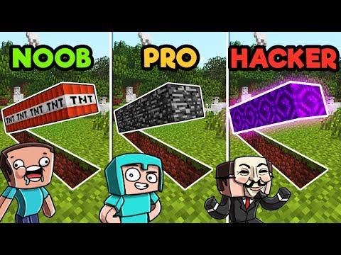 Minecraft | SECRET BASE CHALLENGE! (NOOB vs. PRO vs. HACKER)