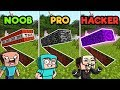 Minecraft | SECRET BASE CHALLENGE! (NOOB vs. PRO vs. HACKER)