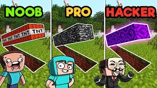 - Minecraft SECRET BASE CHALLENGE NOOB vs. PRO vs. HACKER