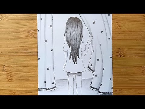 How To Draw A Girl With Pencil Sketch Step By Step Youtube