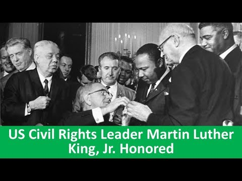 Learn English with VOA News - US Civil Rights Leader Martin Luther King, Jr. Honored
