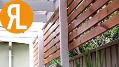 How To Make A Simple Outdoor Screen