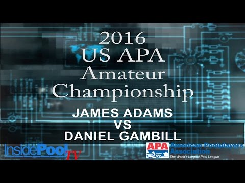2016 U S  APA Amateur Championship James Adams vs Daniel Gam