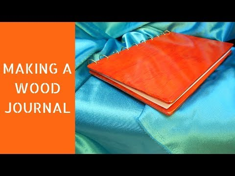 Making a wood journal | DIY  journal