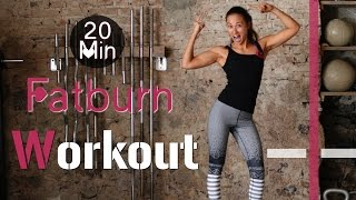 20 Min Hardcore Indoor Fatburn Workout #2 - HIIT - Fettverbrennung und Muskelaufbau garantiert!