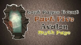 Wizard101 Lost Pages Event, Avalon, Myth Page, 5 of 6