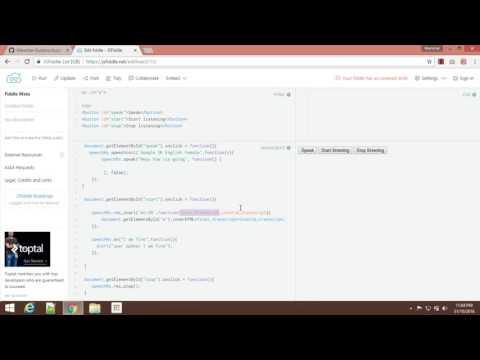 Convert text to speech & speech to text using javascript