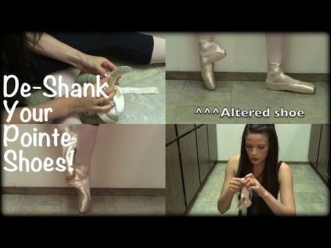 How to Deshank/Break In & Customize Your Pointe Shoes - Try it Out With Me!