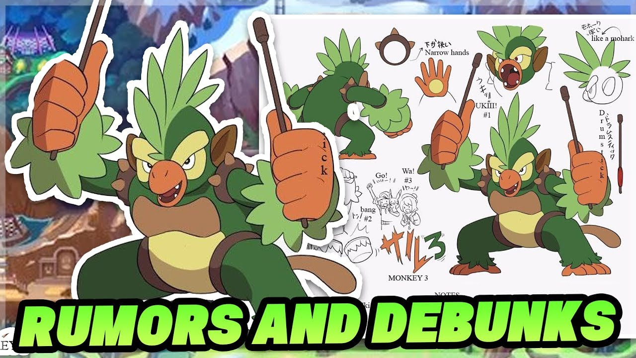 New Rumors For Pokemon Sword And Pokemon Shield Grookey Evolution Concept Debunk No Breeding Youtube Pokédex entry for #810 grookey containing stats, moves learned, evolution chain, location and locations. new rumors for pokemon sword and pokemon shield grookey evolution concept debunk no breeding