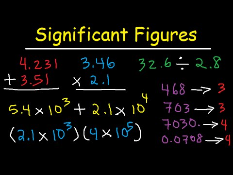 Significant Figures - Addition Subtraction Multiplication Division ...