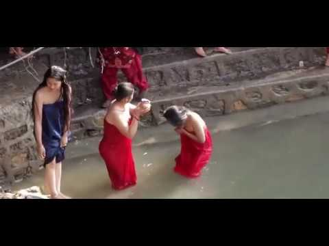 Holy Bath Taking At Salinadi Natural Swimming Pool Youtube