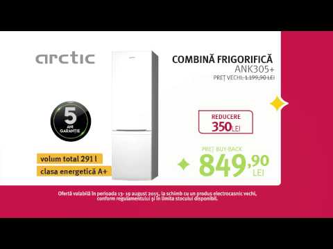 Reclama ALTEX Black Friday de Vara 2015 Frigider Arctic
