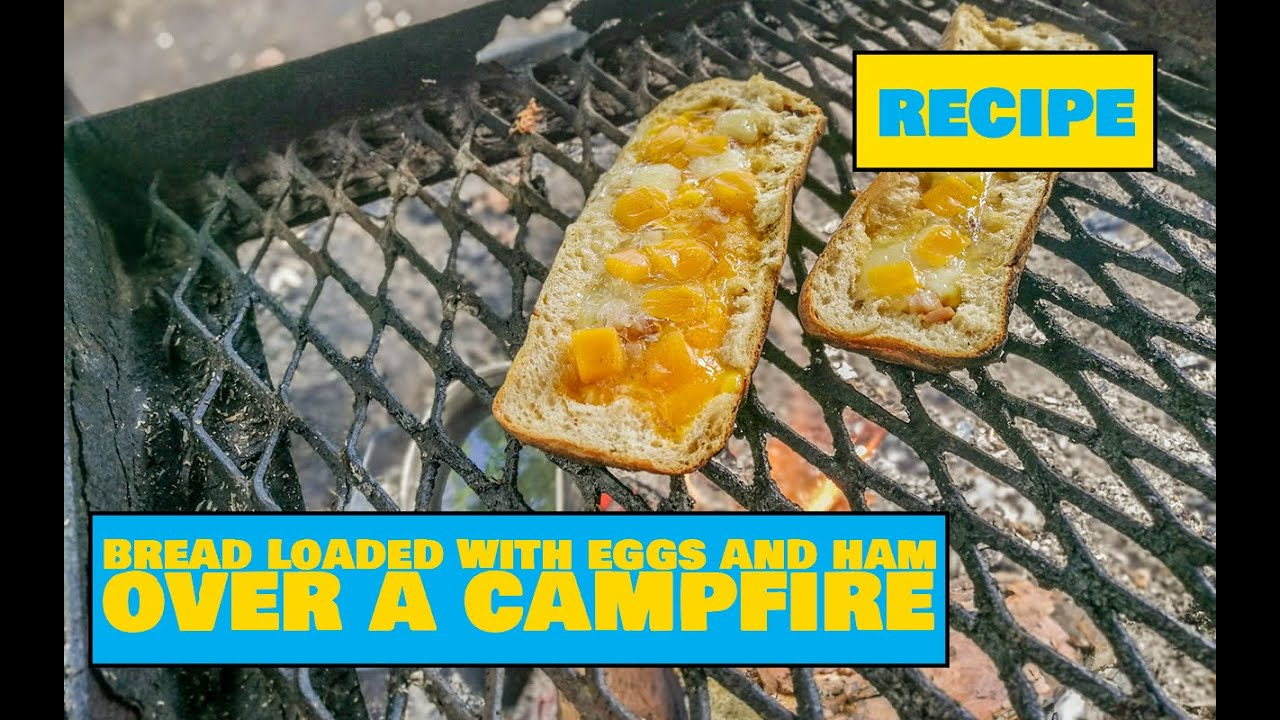 Loaded Bread With Eggs and Ham Over a Campfire / Lõkkeleib muna ja singiga – Easy Outdoors Cooking
