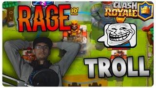 TROLL + RAGE | Clash Royale Romania
