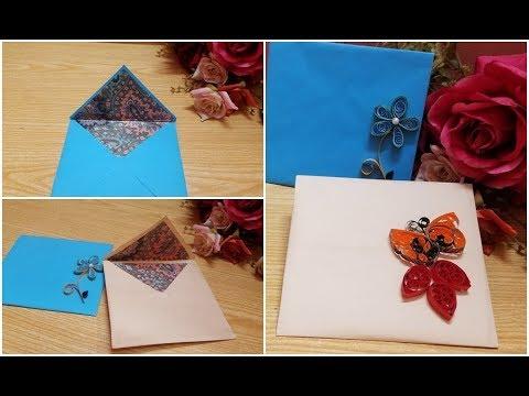 DIY Create a beautiful  paper Envelope idea