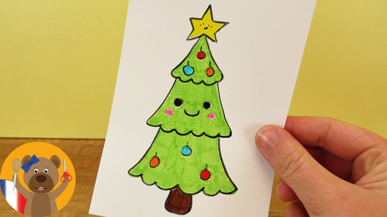 Sapin de no l kawaii dessiner joli sapin de no l d co de no l diy youtube - Joli sapin de noel ...