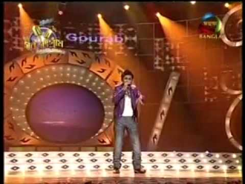 gourab sarkar singing mone chaye aaj sondhae in mahua bangla sursangram