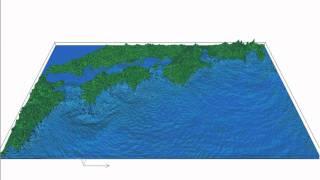 宝永地震による津波シミュレーション Tsunami Simulation