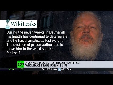 Julian Assange has been moved to hospital unit at Belmarsh