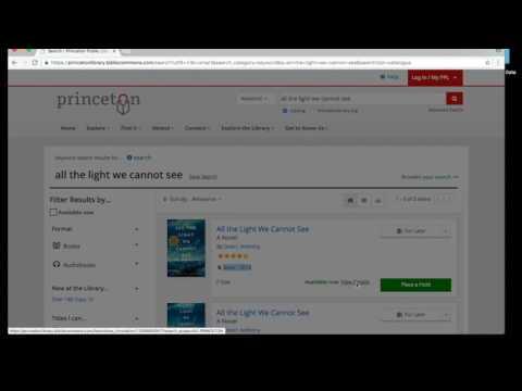 Princeton Public Library - StackMap Tutorial