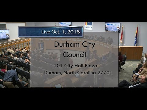 Durham City Council Oct 1, 2018