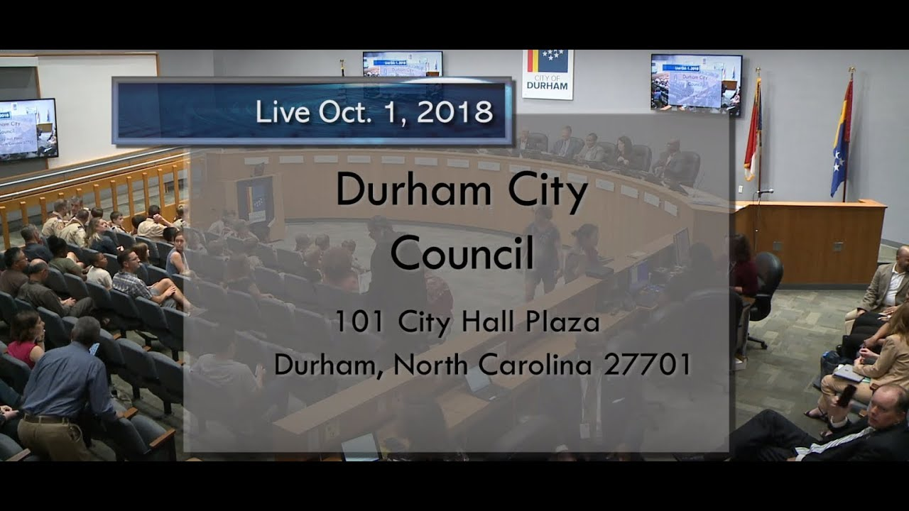 Durham City Council Oct 1 2018 Youtube