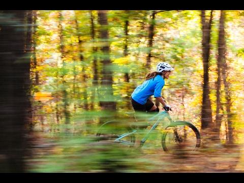 Coincidence: Tandie Bailey mountain biking Oz Trails in Northwest Arkansas