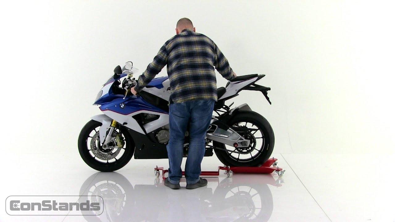 constands rail de rangement moto motomover m2 youtube. Black Bedroom Furniture Sets. Home Design Ideas