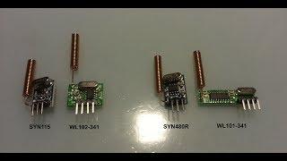 RF 433 MHz модули SYN115/SYN480R и WL101-341/WL102-341