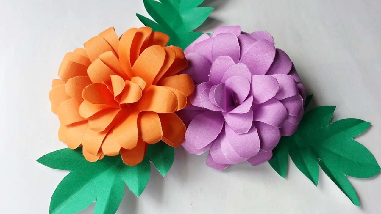 How To Create Pretty Paper Flowers