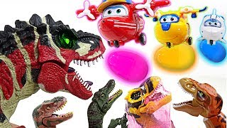 go super wings jelly egg bomb attack to scary dinosaur army reward surprise egg dudupoptoy