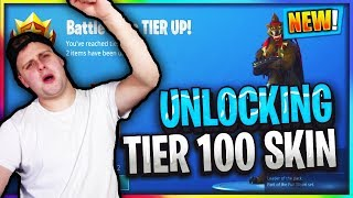 FINALLY... Unlocking TIER 100 SKIN Season 6 / Fortnite Battle Royale