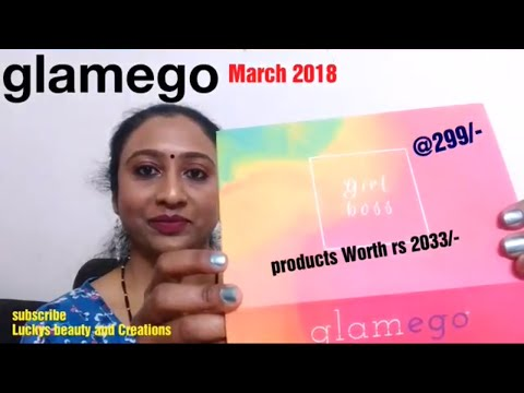 Glamego box March 2018 unboxing and review, India's no 1 subscription box, mondsub , bellavoste