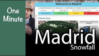 Episode 6 | Madrid Catastrophic Snowfall | One Minute Green Architecture