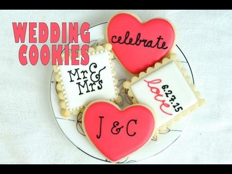 WEDDING COOKIES, PIPING LETTERS ON COOKIES, HANIELAS