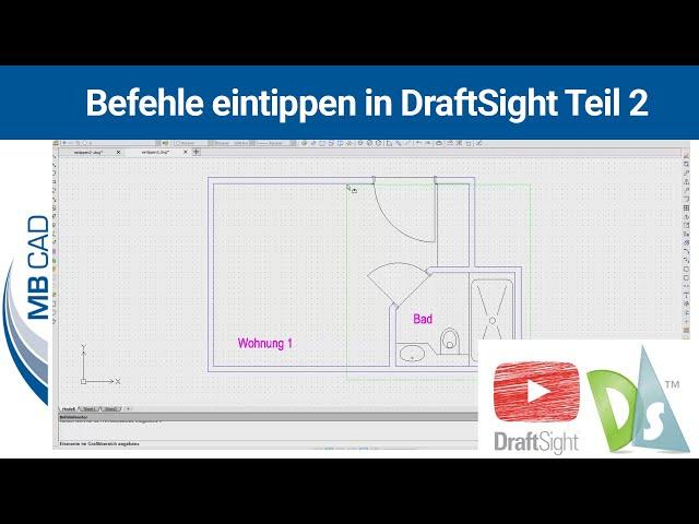 Befehle eintippen in DraftSight Teil 2