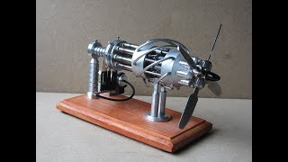 16 Cylinder Stirling Cycle Aero Engine