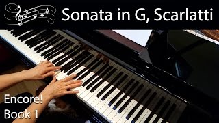 Sonata in G, K. 431, Scarlatti (Early-Advanced Piano Solo) Encore Book 1