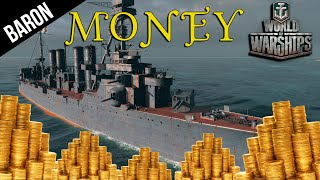 World of Warships Best Ship to Make Money!  Russian Sniper Ship
