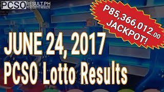 Lotto Result June 24, 2017 (6/55, 6/42, 6D, Swertres & EZ2)