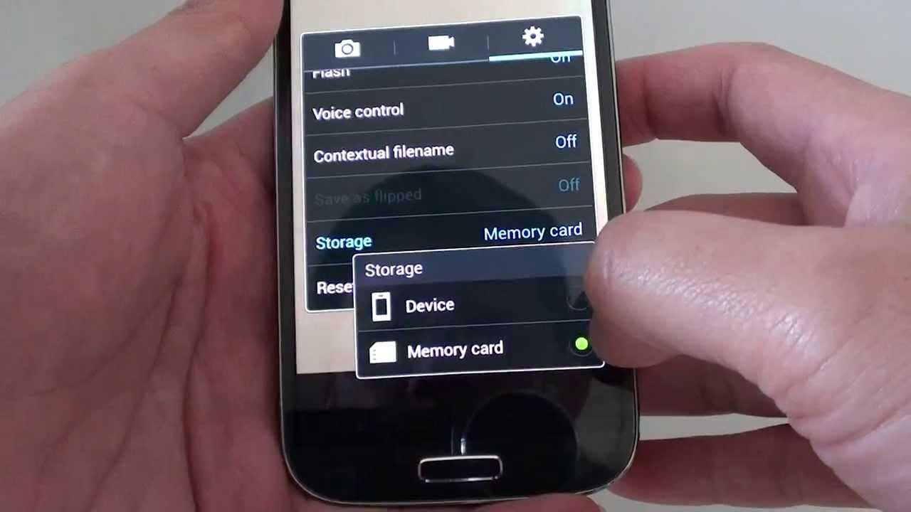 Samsung Galaxy S4: How Change Camera Memory Storage Location