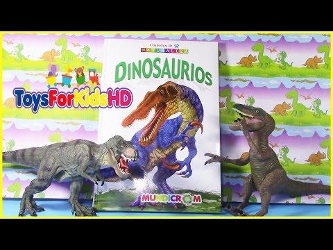 Videos de dinosaurios para niños - libro de dinosaurios BARYONIX  y al DEINONYCHUS ToysForKidsHD