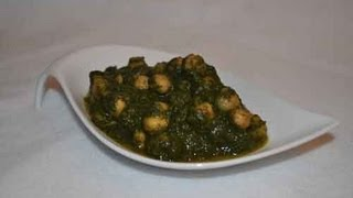 Palak Chana - Spinach Curry With Garbanzo Beans Recipe